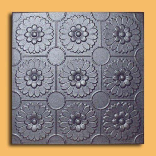 """Odessa Silver (20""""x20"""" Foam) Ceiling Tile by Antique Ceilings. $3.00. Can be installed right over Pop Corn ceiling. Easy to install - with most any Mastic ceramic tile adhesive. Tin like look from a modern material. Can be painted with most any water or latex based paints. Made from high quality Polystyrene foam. The ceiling tiles and panels are made of uniform extruded polystyrene foam. With this technology, it is possible to obtain smooth and even surface. They..."""