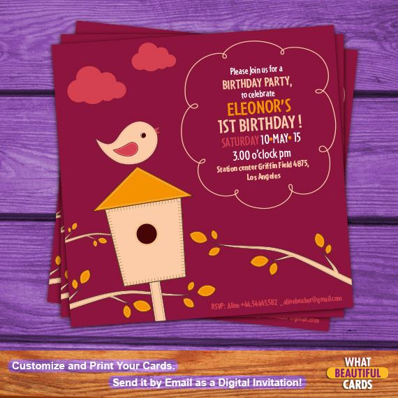 Create your special invitation and invite your friends to your birthday party with this colorful card! It's an exclusive by #WhatBeautifulCard