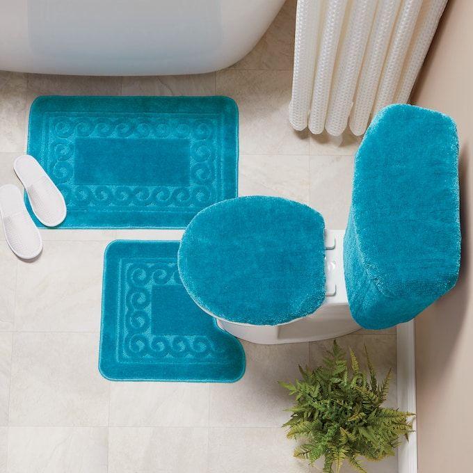 Rug Sets Bath Rugs, 5 Piece Bathroom Rug Set