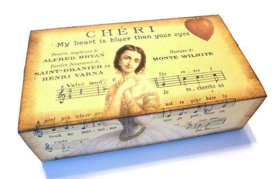 Вторичное подарочной коробке, Романтика подарочной коробке, декоративные коробки для хранения, французский подарочной коробке, Vintage подарочной коробке, вторичная пакет подарков, подарки Идеи для Нее