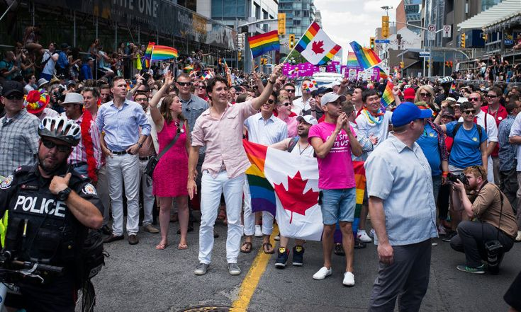Justin Trudeau makes history as the first prime minister to march in Pride parade - HELLO! Canada