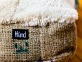 Ultimate comfort for you dog...Eco-friendly product made by Hünd from merinowool-offcuts and Fairtrade-coffeebags