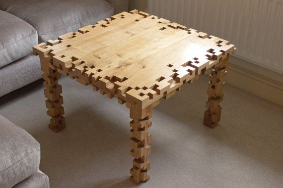 Hey, I found this really awesome Etsy listing at https://www.etsy.com/listing/220776900/coffee-table-8-bit-pixel-solid-oak