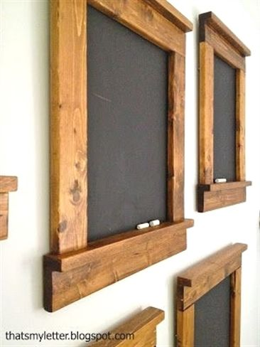 Creating beautiful & simple blackboards – great gift and great for home. I really want to try this! #WoodworkingProjects
