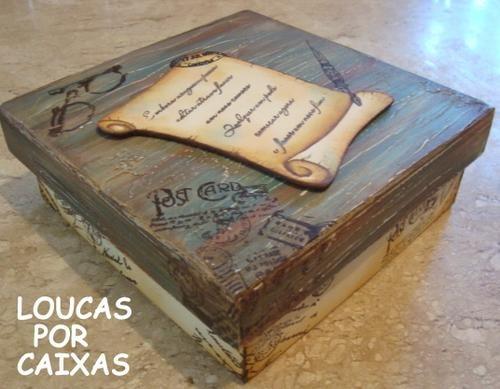 Caixa pergaminho com carimbos loucas por caixas - Loucas por caixas - Terra Fotolog
