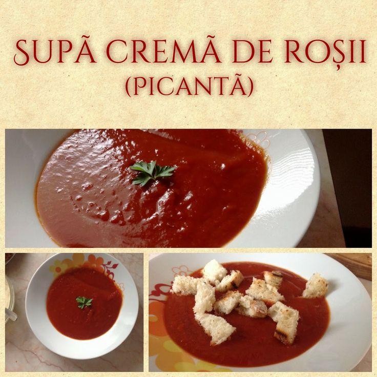 Supă cremă de roșii (picantă)