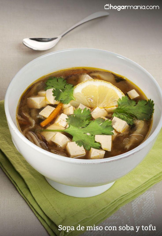 Receta de sopa de miso con soba y tofu receta cocina for Cocina macrobiotica