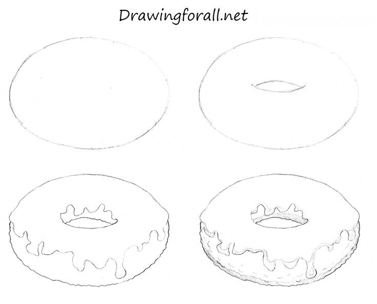 How to Draw a Donut http://www.drawingforall.net/how-to-draw-a-donut/