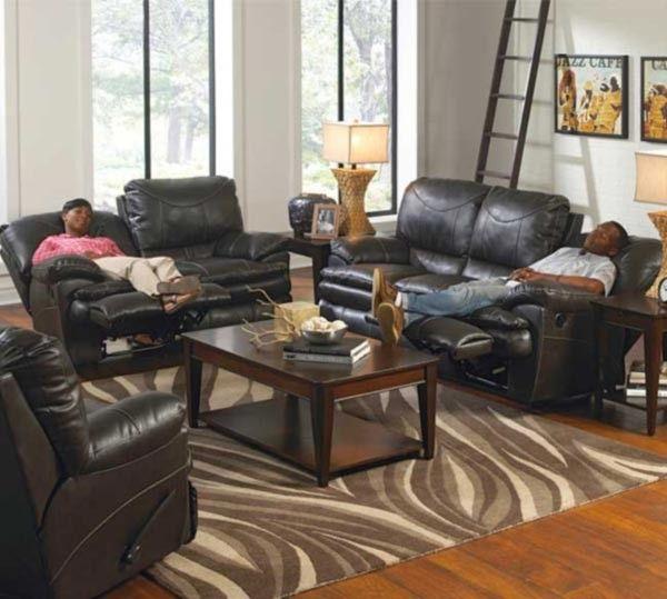 Catnapper - Perez 2 Piece Power Reclining Sofa Set in Steel - 64149-2SET-STEEL