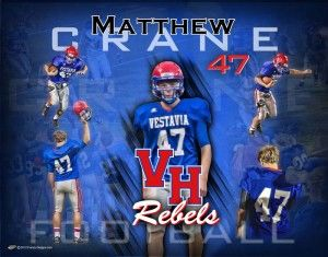 Personalized Football Poster – Vestavia Hills Rebels