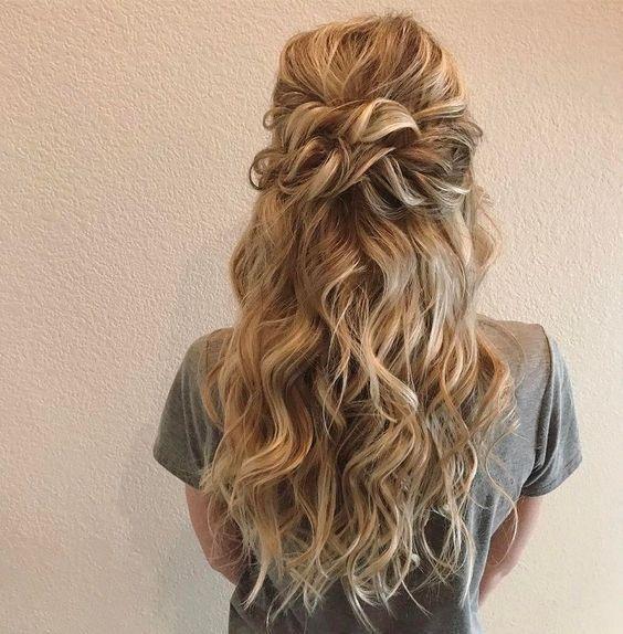 39 Wunderschöne Half Up Half Down Hochzeitsfrisuren Ideen – Seite 25 von 39 – HAIRSTY …   – Hairstyles