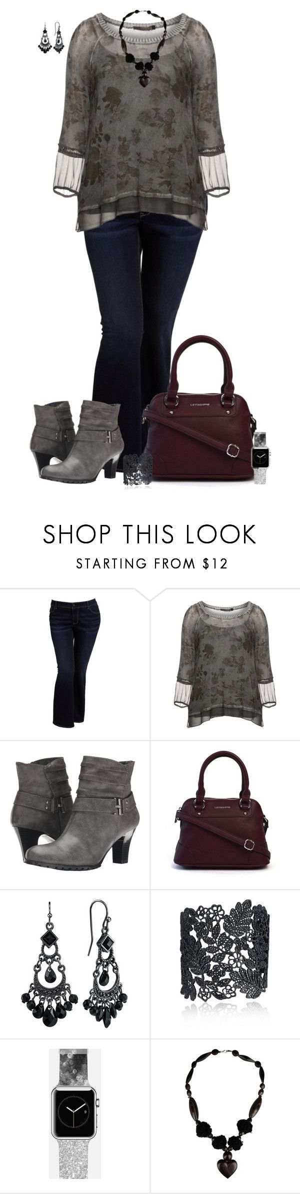 Plus Size - Date Night by elise1114 on Polyvore featuring Nostalgia, Old Navy, Aerosoles, Liz Claiborne, Casetify and 1928