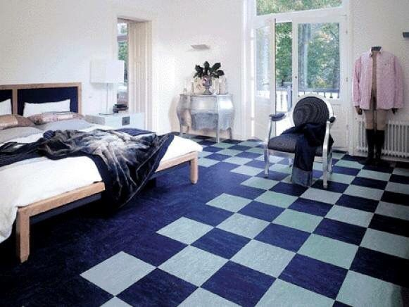 Pin 2: Linoleum it's a good material to use for high use areas, for be a durable material. It's a good product because you have a variety of colors and also it's a cheap product. One example that is this floor, which make the place more modern.