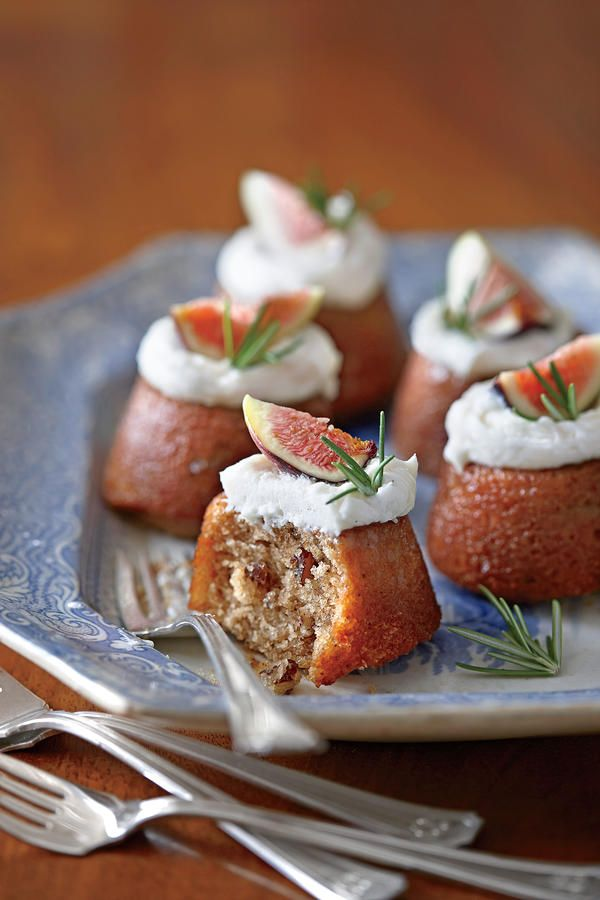 Buttermilk-Glazed Mini Fig Cakes with Vanilla Hard Sauce - The Best Recipes of 2013 - Southernliving. Muffin pans make the perfect baking vessels for these little fig cakes. Gussy them up by spooning a dollop or piping a silver dollar of hard sauce on top, and then garnish them with halved fresh figs, fresh herbs, or even pecan halves.  Recipe: Buttermilk-Glazed Mini Fig Cakes with Vanilla Hard Sauce