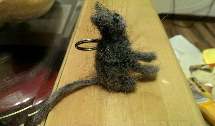 Gray cat needle felt