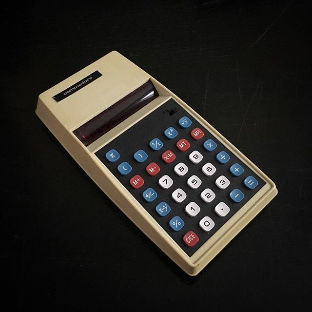 """Some vintage tech unearthed in the morph archives : Commodore 887D Electronic Calculator (circa 1975) #commodore #vintage #tech #computers #calculator #design #1975 #70s #morph"" Photo taken by @morphuk on Instagram, pinned via the InstaPin iOS App! http://www.instapinapp.com (03/22/2016)"