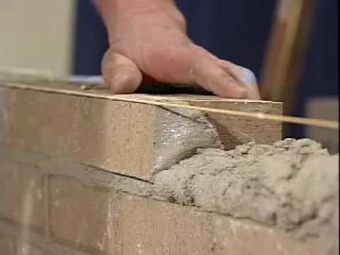Basic video of laying brick.  Informative but not very exciting.