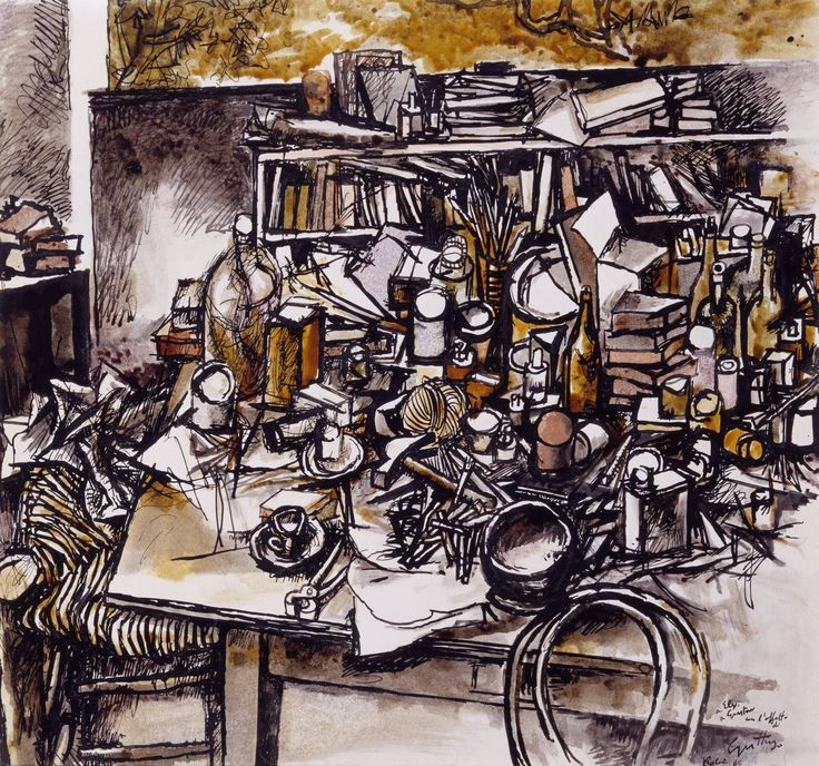 Renato Guttuso, 'Still Life in the Studio' 1962
