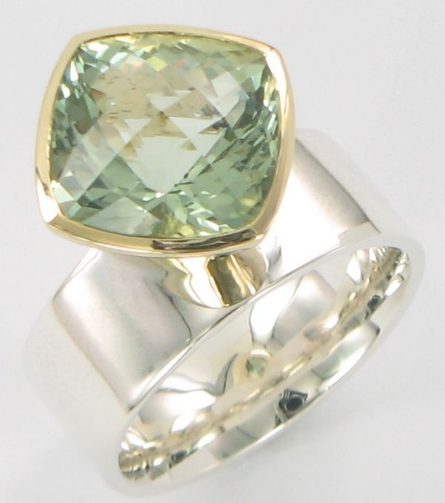 Green Amethyst y/gold s/silver