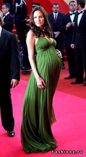 Беременная алсу в зеленом платье