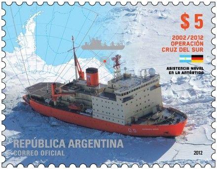 """Álbum de Estampillas: Nueva Emisión del Correo Argentino - 10° Aniversario de la Operación """"Cruz del Sur"""""""