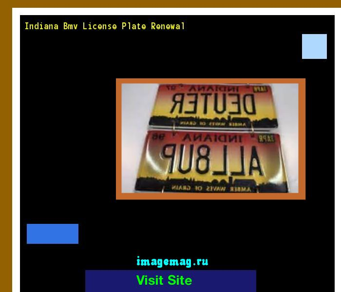 Indiana bmv license plate renewal 141202 - The Best Image Search