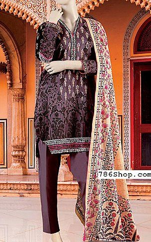 Rosy Brown Lawn Suit | Buy Junaid Jamshed Eid Collection Pakistani Dresses and Clothing online in USA, UK