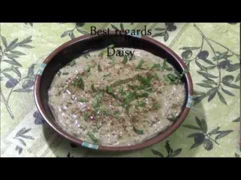 طريقة عمل بابا غنوج How to make Baba Ghanouj-Eggplant Dip