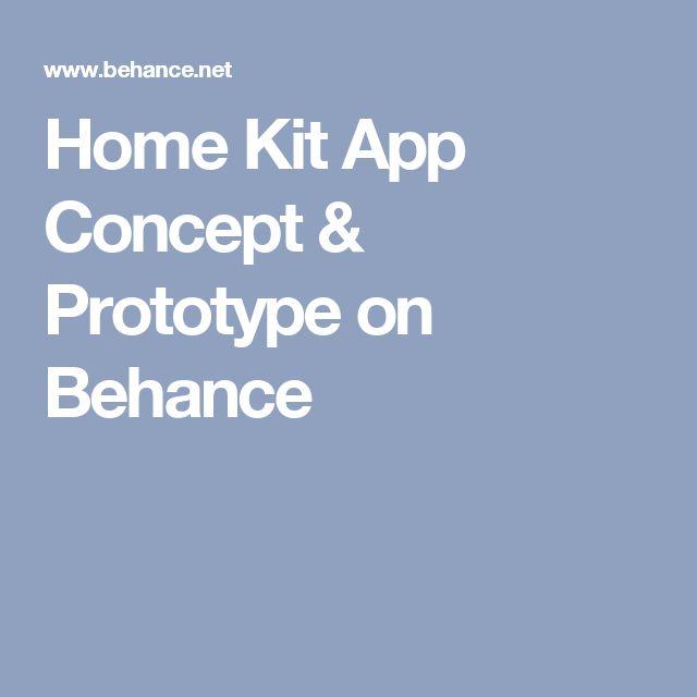 Home Kit App Concept & Prototype on Behance
