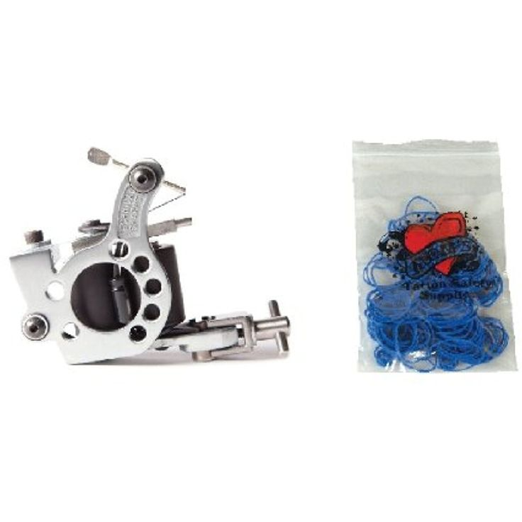 Technical Tattoo Supply Polished Steel Telephone Dial - Professional Tattoo Machine Plus 100 Blue Rubber Bands *** Read more  at the image link. (This is an affiliate link and I receive a commission for the sales) #TattooSupplies