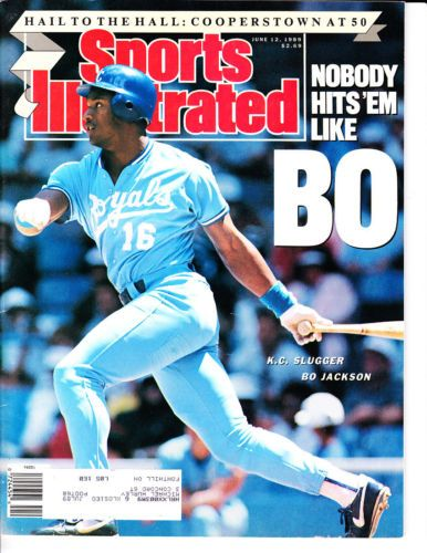 1989 Sports Illustrated Bo Jackson K.C. Royals + Cooperstown hall of fame at 50