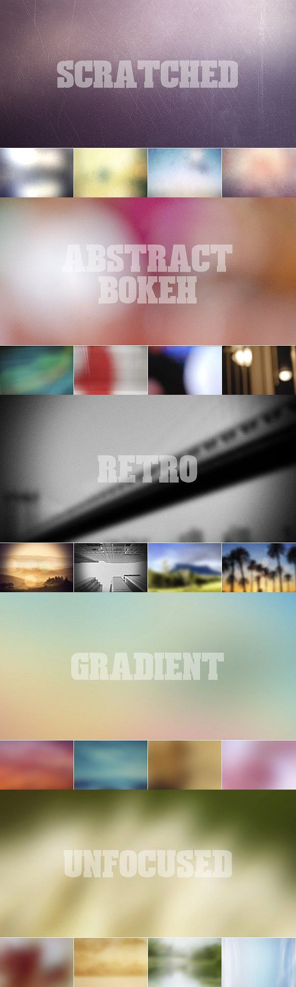 82 Blurred Backgrounds Bundle #abstract #blurred