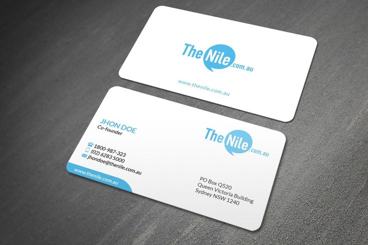 Create a business card for our online retail company by Florin Ralea