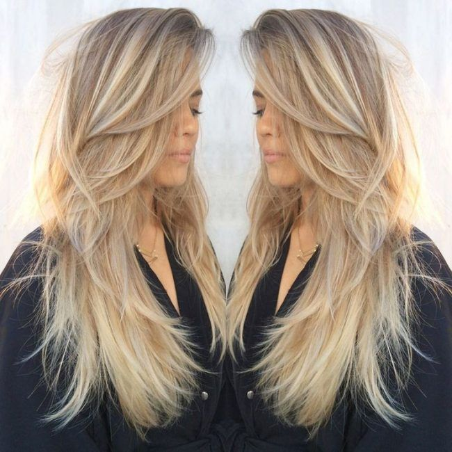 Стрижки на длинные светлые волосы