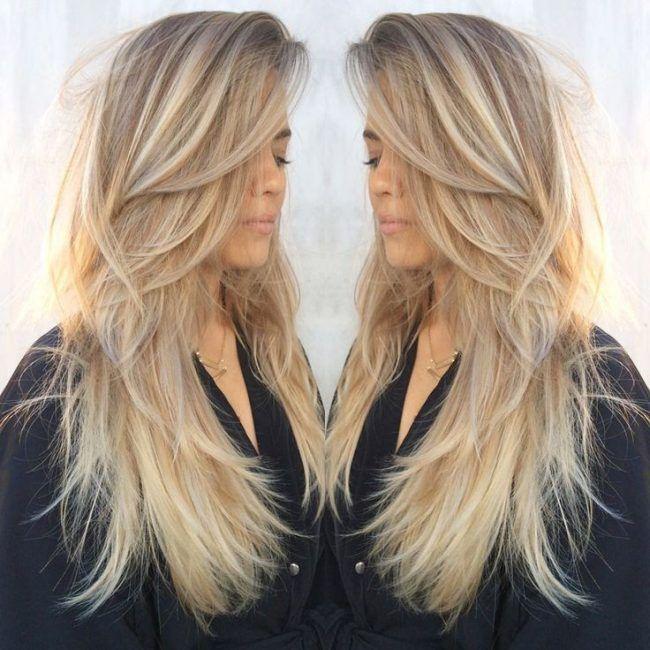 Обаятельная стрижка лесенка на длинные волосы с челкой и без (50 фото)