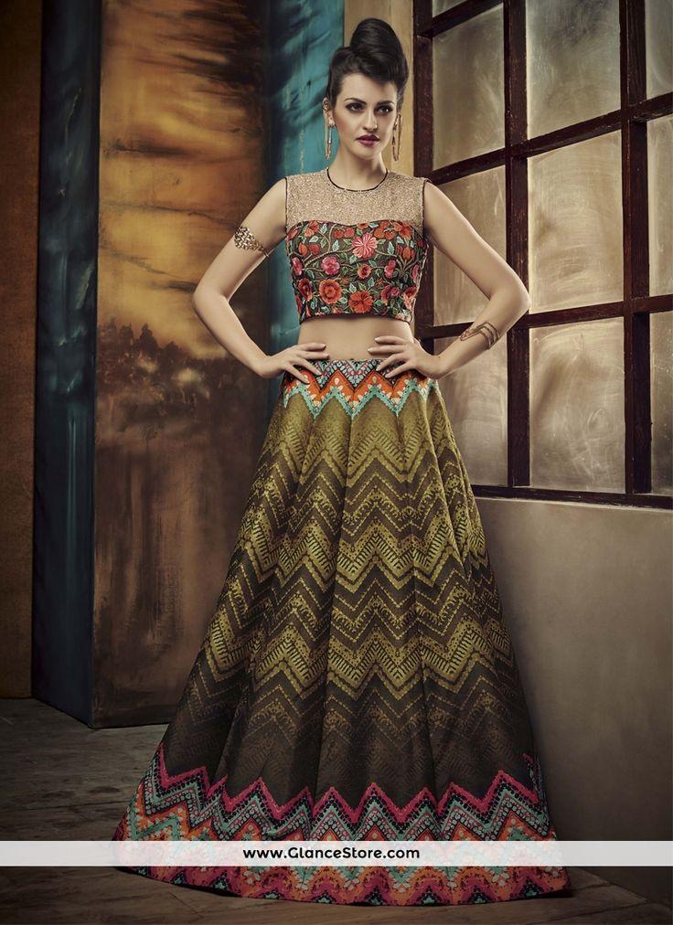 Lovable Embroidered Work A Line Lehenga Choli