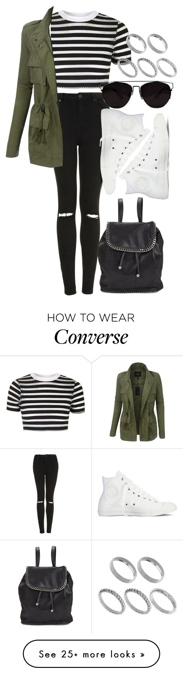 """Untitled #104"" by voiceforfashion on Polyvore featuring STELLA McCARTNEY, Topshop, LE3NO, ASOS and Converse"