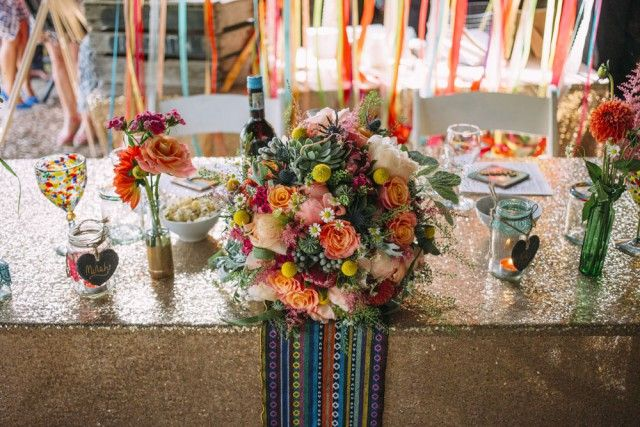 Colourful Details Colourful Mexican Fiesta Wedding Seaside Wedding