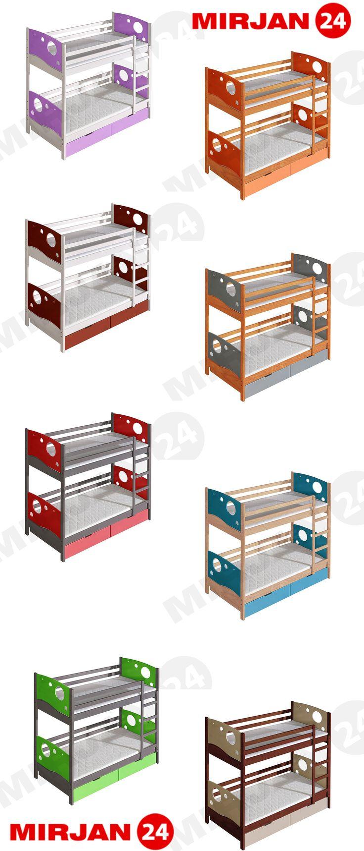 The bunk bed is perfect for siblings. Let children choose the color they want.  Piętrowe łóżku jest idealne dla rodzeństwa. Pozwól dzieciom wybrać wymarzony kolor.  #kidsroom #mirjan24 #colourfull #kids #kidsday #sweethome #funitureforchildren