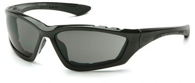 Pyramex Accurist Safety Glasses with Black Frame and Gray Anti-Fog Lens