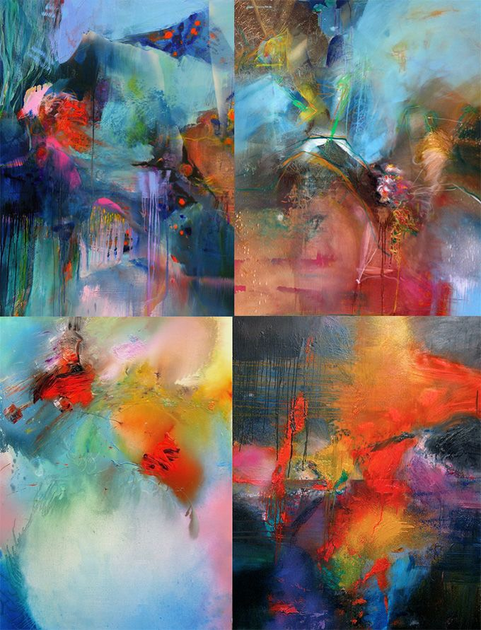 We love this particular series of abstract paintings by French artist Gerard Stricher. There is a fantastic mix of nature and industry in them.