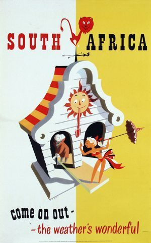 South Africa #tourism #poster (1950s)