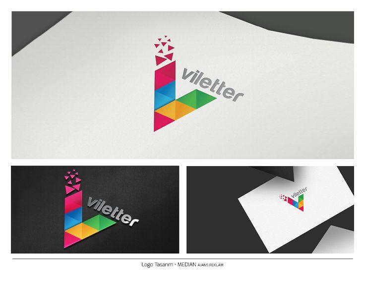 Colorful V letter Logo Unique