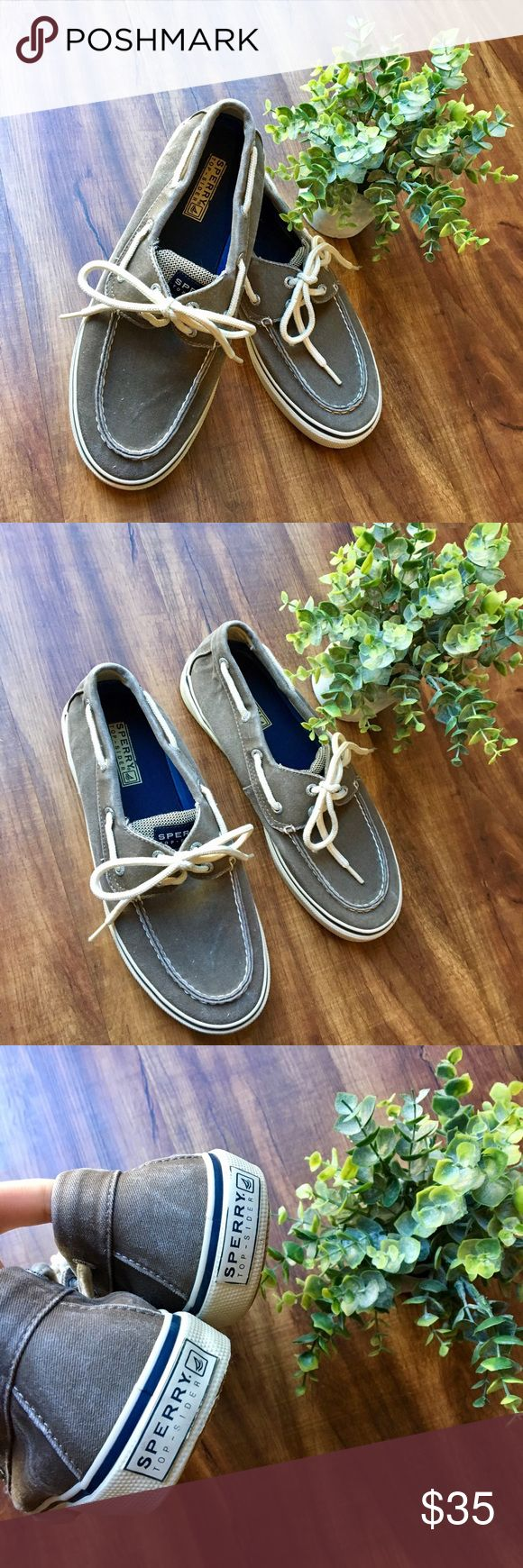 Men's sperry boat shoes Men's Sperry topside wahoo 2-eye sneaker. Perfect condition! Size 8.5 they are a warm gray color accurate in photos  20% off bundles! I love offers 😊 Sperry Top-Sider Shoes Boat Shoes