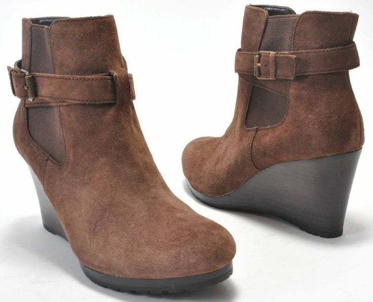 Ankle Outfit Wedge Brown Boots