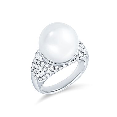ALO Diamonds Charmed Ocean Pearl Ring #alodiamonds
