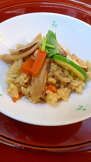 """""""★Rice with matsutake, restaurant wind as the style of a home★"""" - japanese recipe/松茸ご飯 家庭風と料亭風"""