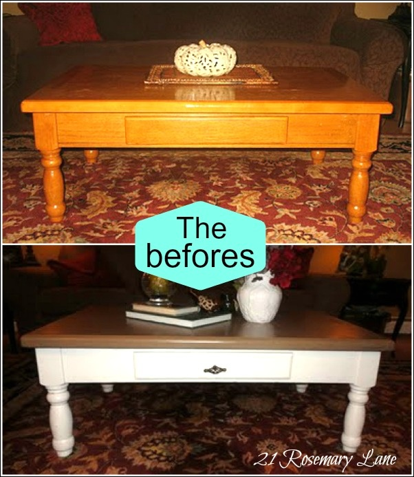 21 Rosemary Lane: The Third Look is a Charm ~ Rustic Coffee Table Makeover