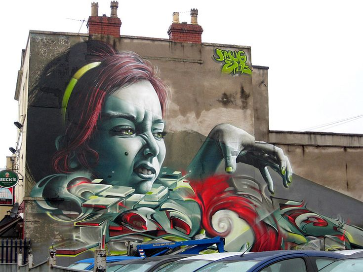 Painted by Smug & Epok during the 2012 edition of the urban paint festival Upfest. #streetart