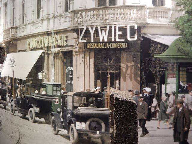 Przedwojenna Warszawa na kolorowych zdjęciach